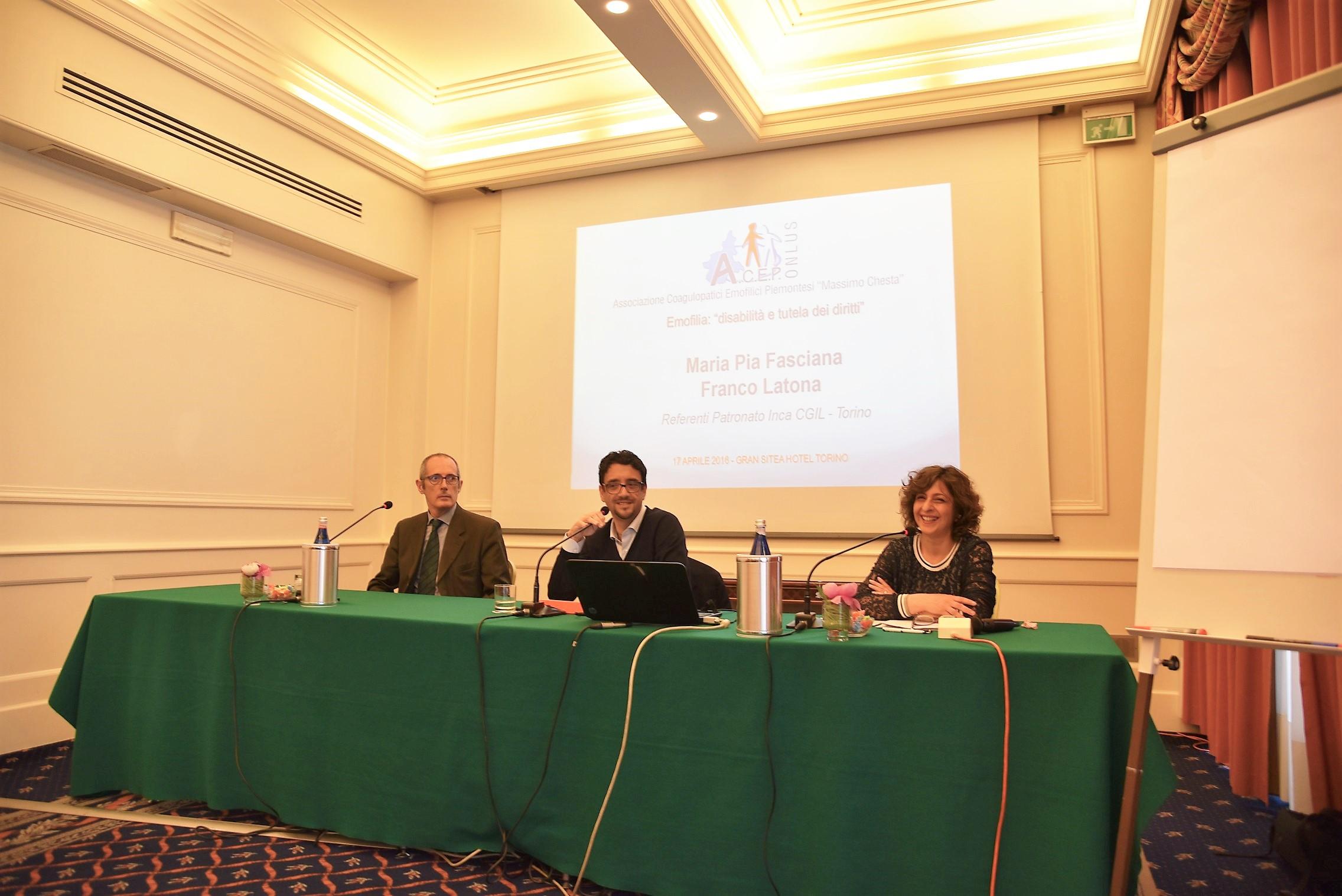 Franco Latona, Alberto Garnero, Maria Pia Fasciana